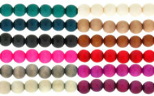 24 x Round Shaped Hand Made High Gloss Eco-Sustainable Wooden Beads 18mm