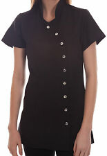 Salon Spa Beauty Beautician Hairdressers Nails Massage Uniform Tunic Black LMD