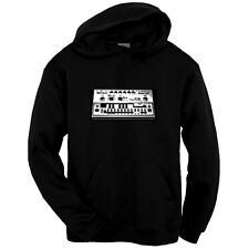 Roland TB-303 Bass Synth Hoodie Sweatshirt, S - 3XL, Vintage Electronica Hip Hop