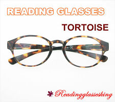 ROUND OVAL NEW STYLE Reading Glasses in TORTOISE Readers ALL STRENGTH