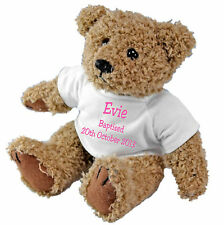 Baptism / Naming Ceremony / Christening Personalised Teddy Bear +free Gift Bag