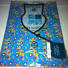 Print Scrub Top Small Colored Circles on blue bg by ADAR 1609 multiple sizes ava