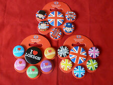 Metal Pin Badges Buttons London Union Jack Flag British Souvenir Small and Large