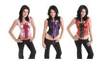 WOMENS SEXY WITCHES CORSETS IN MANY STYLES CAN CAN OUTFIT FANCY DRESS