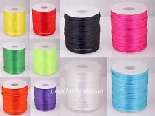 10m Nylon Chinese Knot Beading Jewelry Cords Thread 2mm Dia u pick color