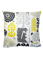 Harlequin Scion Woodland Scandinavian Vtg/Retro 60s  Fabric Cushion Cover-YELLOW
