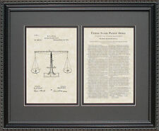Patent Art - Scales of Justice - Attorney Judge Lawyer Law Legal Gift G6975