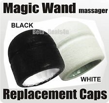 REPLACEMENT HEAD CAP BLACK / WHITE FOR Magic Wand Massager Also Fits Hitachi