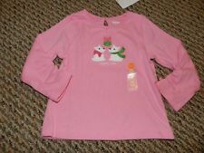 NWT Gymboree Cheery All the Way Pink Westie Mistletoe Puppy Love Top 12 18 24 mo