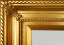 "PICTURE FRAME WOOD GOLD ORNATE WEDDING PHOTO PORTRAIT ART CANVAS 3.25"" WIDE"