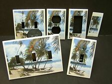TROPICAL PARIDSE BEACH PALM TREE # 21 LIGHT SWITCH COVER PLATE OR OUTLET COVER