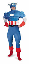 Mens Adult MARVEL Deluxe Muscle CAPTAIN AMERICA Costume