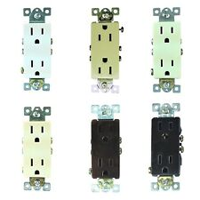 50/PK 15A Decorator Style Residential 5-15R Plug Duplex 125V Outlet Receptacles