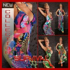 WOMENS NEW MAXI HOT FLORAL GREEN HALTER NECK DRESS SEXY SIZE 8 PARTY EVENING