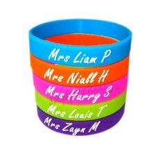 NEW one direction Mrs Louis Zayn Niall Harry Liam silicone wristbands bracelets