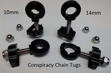 Conspiracy BMX Chain Tensioners Adjusters Tugs 10mm - 14mm. Incl.domed end nuts