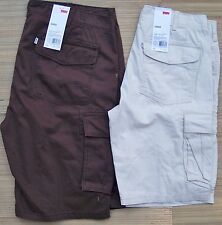 LEVI'S MENS DUTY RATED COTTON TWILL RELAXED FIT AT KNEE CARGO SHORTS LIST $54