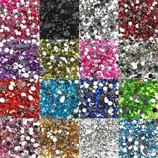2000pcs Half Round 3mm Acrylic Crystal Beads Flatback For Craft 12g