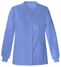 Scrubs Cherokee Luxe Warm-Up Jacket 1330  Ciel  FREE SHIPPING!