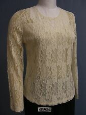 BFA CLASSICS FRONT Lined Long Sleeve Lace TOP! Lots of Colors and PETITE sizes!