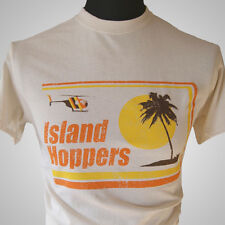 Island Hoppers Magnum PI Retro T Shirt Natural TV Classic TC Vintage Hawaii Cool