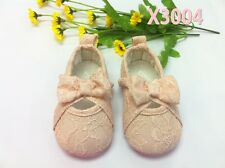 Baby Kids Girls Toddlers Pink Lace Walking Princess First shoes Xmas shower gift