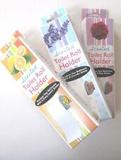 SET OF 3 SCENTED TOILET PAPER ROLLER TISSUE ROLL HOLDER