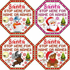 Personalised Santa Stop Here Signs - Custom Design Available!