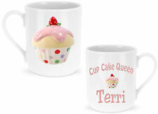 Personalised Cup Cake Queen Mug - Add a Name free Lovely Christmas Birthday Gift