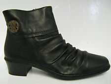 Ladies Rieker ankle boots Kendra black leather