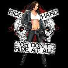 Ride Hard Or Don't Ride At All Biker Black T-Shirt Any Size ~Nice~