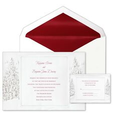 1 Preprinted Sample or Custom Printed Winter Wonderland Wedding Invitations
