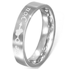 4mm Stainless Steel Comfort Fit Promise Ring - Free Engraving - ZR0041