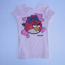 Angry Birds Girls Short Sleeve Graphic Tee T-Shirt Pink Tagless All Sizes NWT!