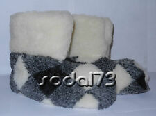 100% pure sheep Wool SLIPPERS, New genuine felt merino Boots, All Men's sizes