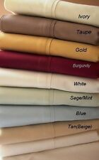 1500TC Cal King Water Bed Egyptian Cotton Bed Sheet Set -Unattached 7 Colors