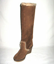 MADEWELL BRAND NEW (NIB) SUEDE & SHEARLING TALL WEDGE BOOT Retail:$298+Tax