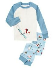 NWT Gymboree Skiing Polar Bear Gymmies Sleep Set Pajamas PJ's Sleepwear NEW 5 6