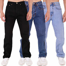 MENS AZTEC BASIC STRAIGHT REGULAR FIT JEANS 28- 40 42 44 46 48 50 52 54 56 58 60