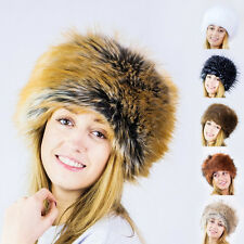 New Ladies Faux Fox Fur Russian Cossack Style Winter Hat