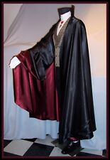 DRACULA Cape Cloak HUGE 270 inches around CIRCLE S to XL Vampire Black Wine Red