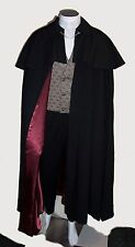 Gentlemen's CLOAK Victorian Black Opera Cape Capelet Men's S to XL Wine Red Gold