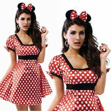 Sexy Minnie Mouse Christmas Halloween Party Ladies Girl Fancy Dress Costume M-XL