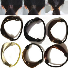 New Synthetic Elastic Hair Band Tie Ponytail Hair Extensions Holders  - 6 Colors