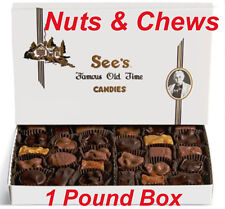 1 Pound See's Candies Nuts & Chews Chocolate Candy + Free Gift Wrap