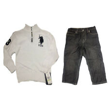 NWT US POLO ASSN 2 PIECE BOYS SWEATER AND PANTS SET 2T 3T 4T 5/6 7 7X