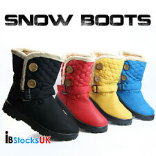 Ladies Womens Winter Snow Boots Size 3 4 5 6 7 8 Black Blue Yellow Red k1016 New