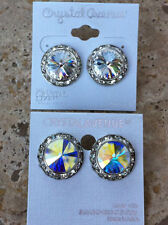 Crystal Rhinestone 3/4 in.Competition Dance Stud Pierced Earrings Many Colors