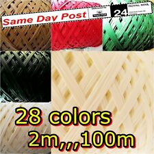 Raffia Paper Ribbon 7mm Variations decorating flowers gifts crafts scrapbooks!