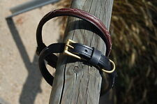*Hot Item* Handmade Dog Collar Genuine Leather with Italian Solid Brass Hardware